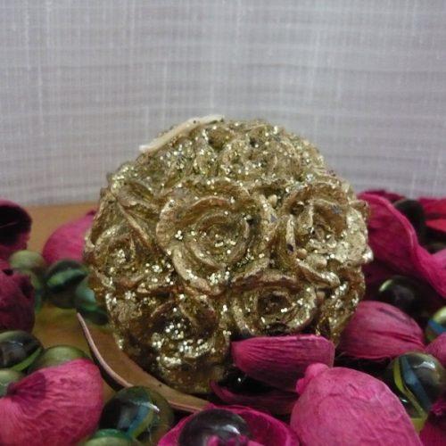 lumanari decorative bila ci trandafiri aurii