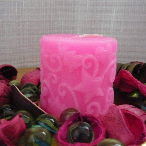 lumanari decorative roz cu stelute