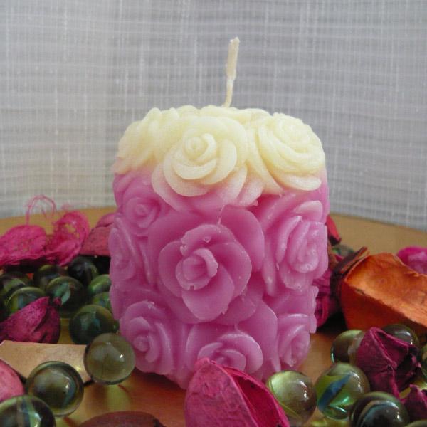 lumanari decorative trandafiri alb roz