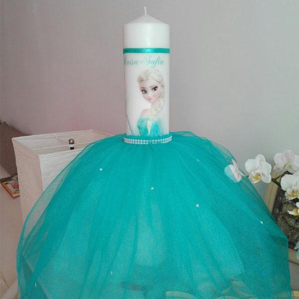 Lumanare Pentru Botez Cu Printesa Elsa Personalizata